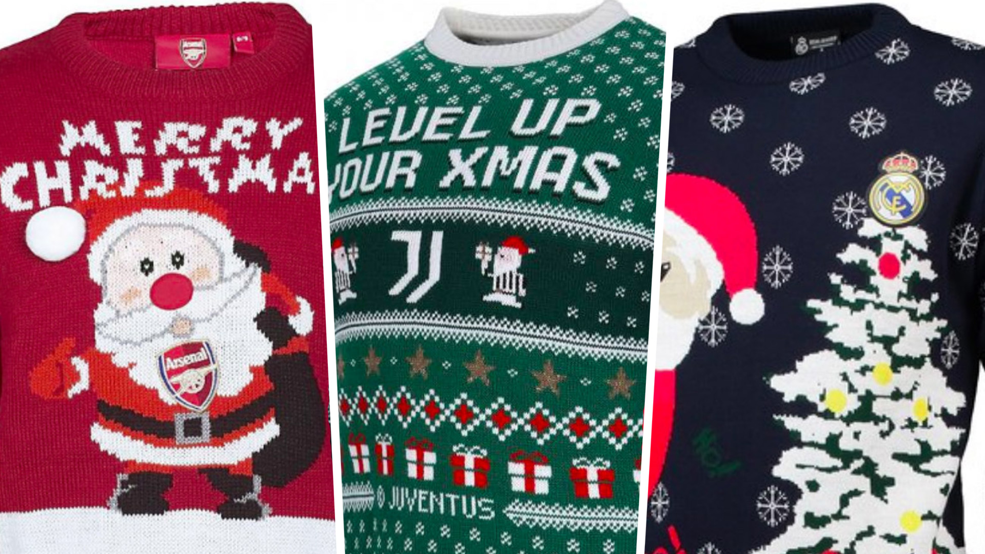 Football Christmas jumpers 2018 composite