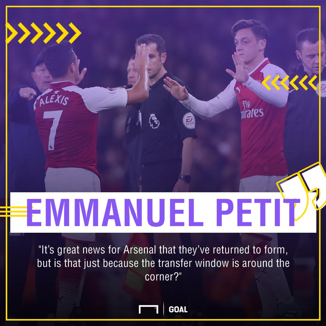 Emmanuel Petit Alexis Sanchez Mesut Ozil Arsenal exit
