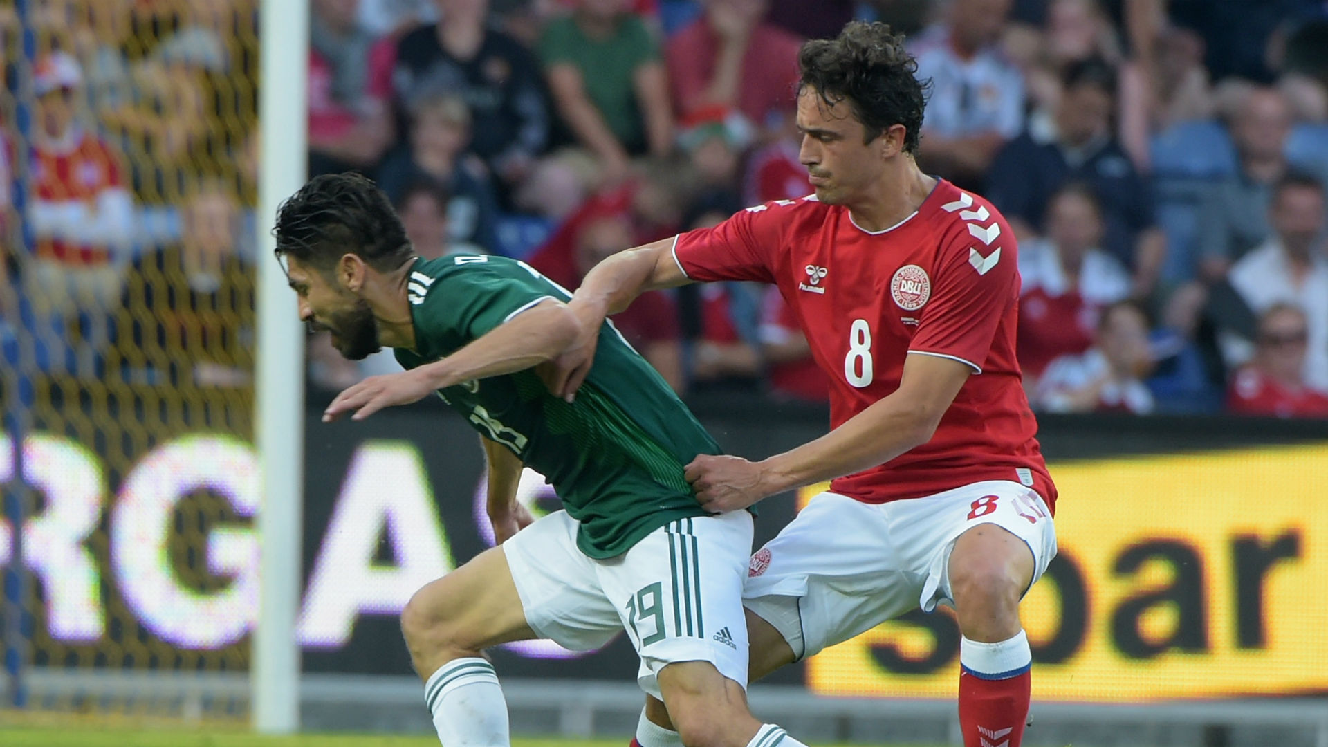 Oribe Peralta Thomas Delaney Denmark Mexico international friendly 2018