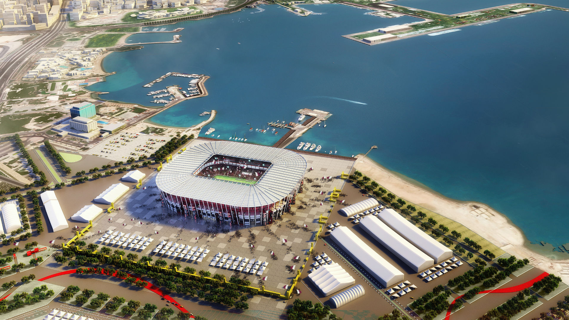 Ras Abu Aboud Stadium Qatar 2022 World Cup