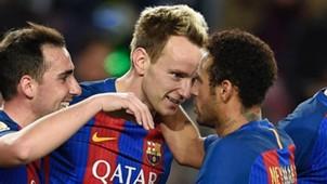 Neymar Rakitic Barcelona Gijon 030117