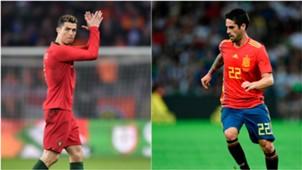 Cristiano Ronaldo Isco Portugal Spain World Cup GFX