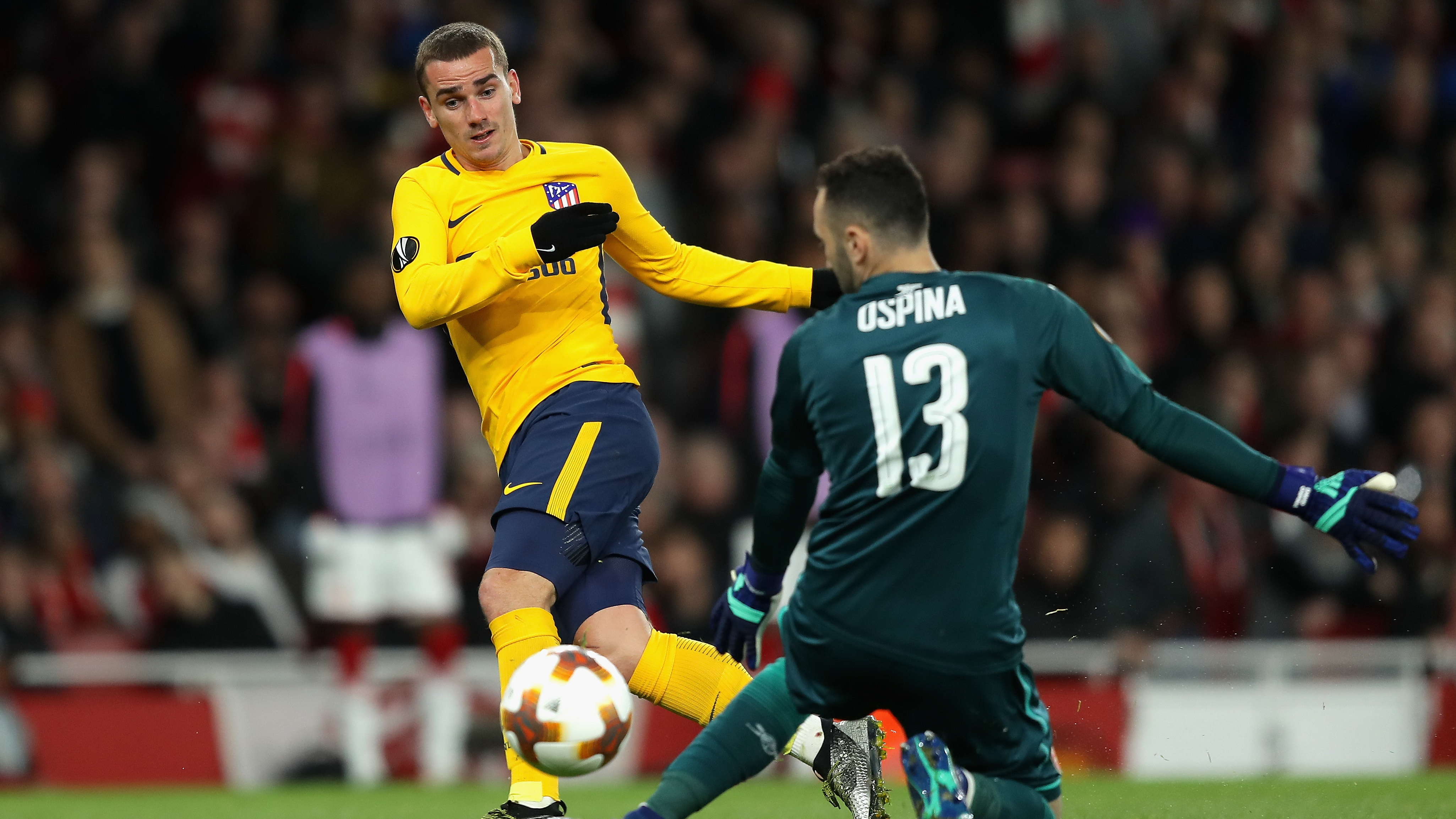 David Ospina Arsenal Antonie Griezmann Atletico Madrid Europa League