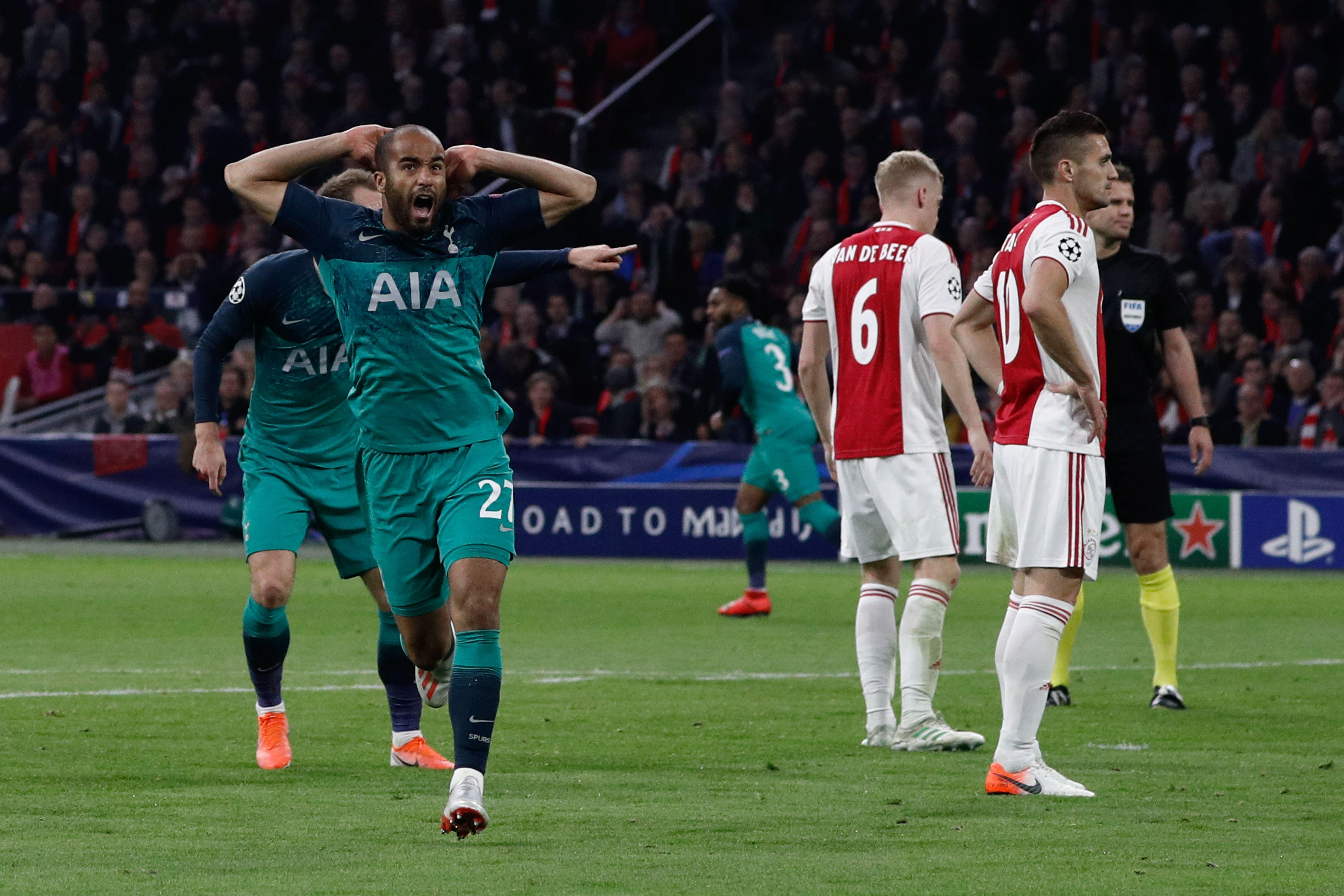 Lucas Moura Ajax Tottenham Champions League