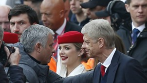 Arsene Wenger José Mourinho Arsenal Manchester United Premier League 05072017
