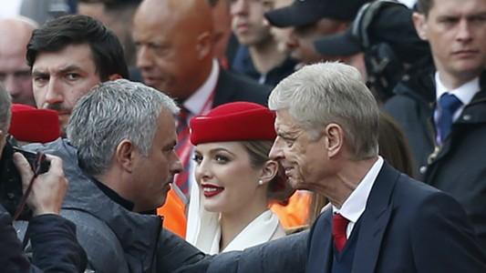 Arsene Wenger José Mourinho Arsenal Manchester United Premier League 05072017