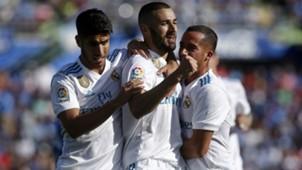 Asensio Benzema Lucas Vazquez Getafe Real Madrid LaLiga