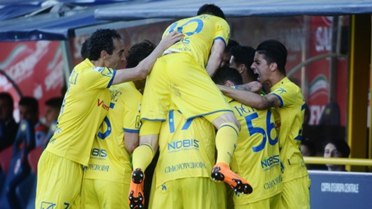 Chievo celebrating Bologna Chievo Serie A