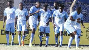 Sofapaka players celebrate v Tusker.