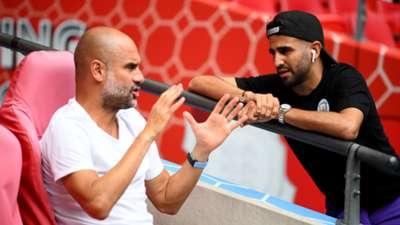 Pep Guardiola & Riyad Mahrez