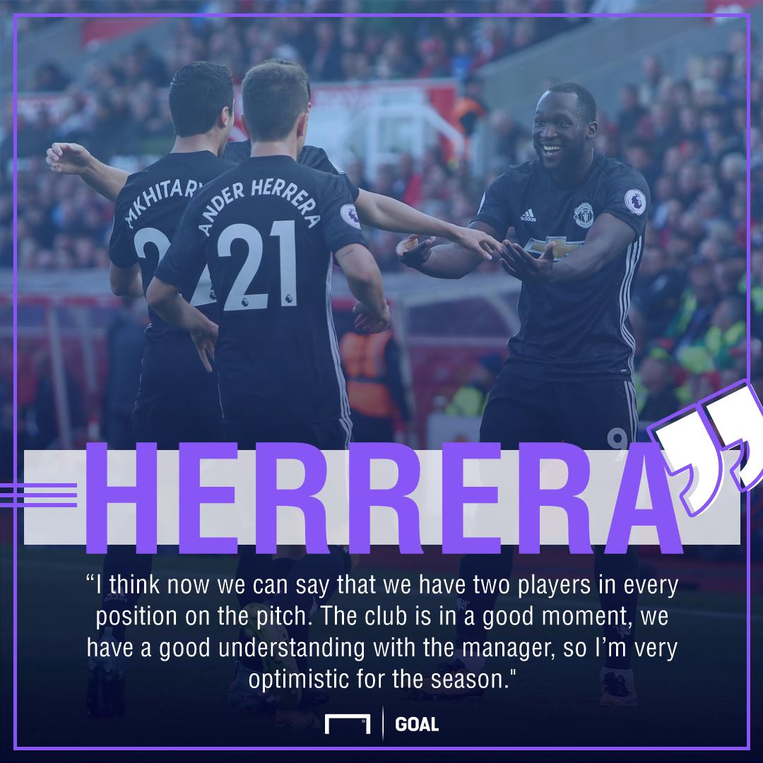 Ander Herrera Manchester United squad depth