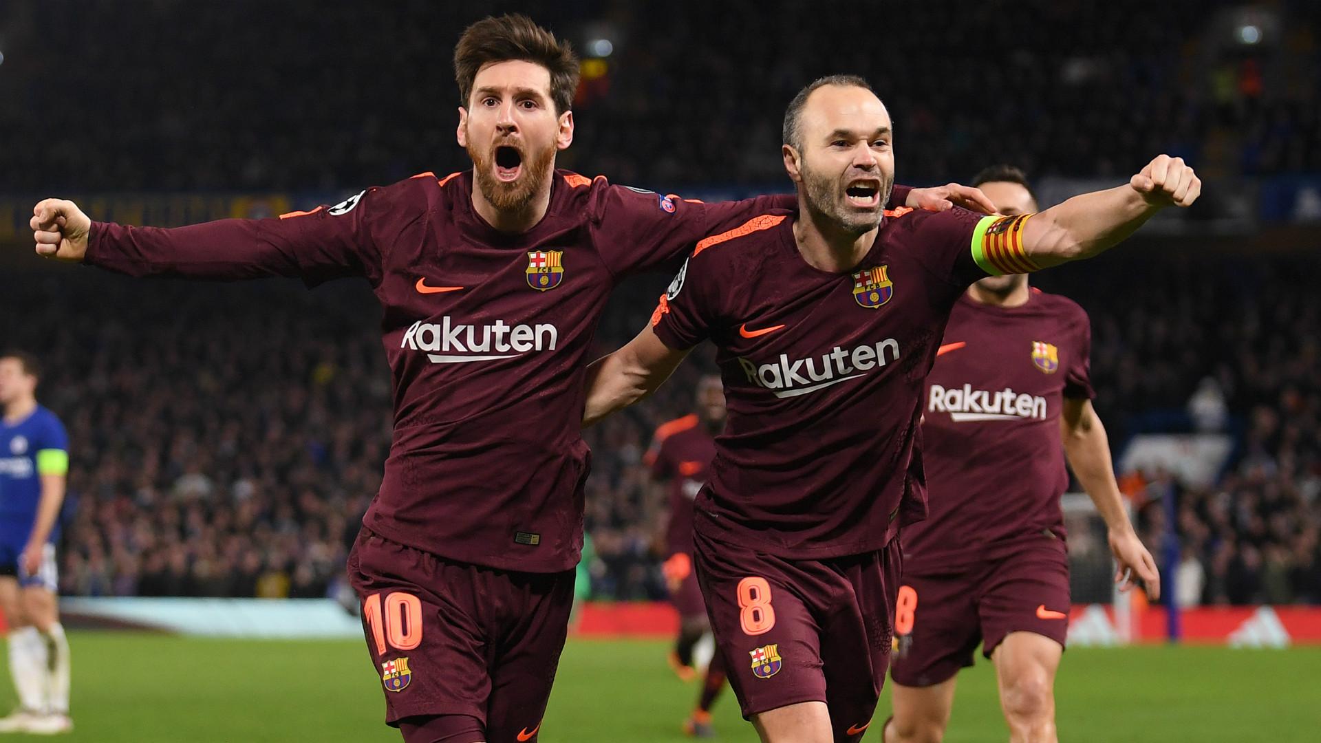 Lionel Messi Andres Iniesta 20022018