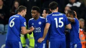Leicester City celebrate vs Brighton