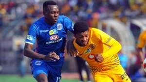 Ghampani Lungu of SuperSport United & Dumisani Zuma of Kaizer Chiefs, August 2018