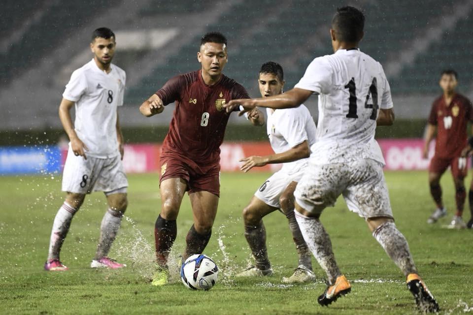Image result for ช้างศึก U19 โดนจอร์แดนไล่เจ๊า 2-2 GSB Bangkok Cup 2018 Goal