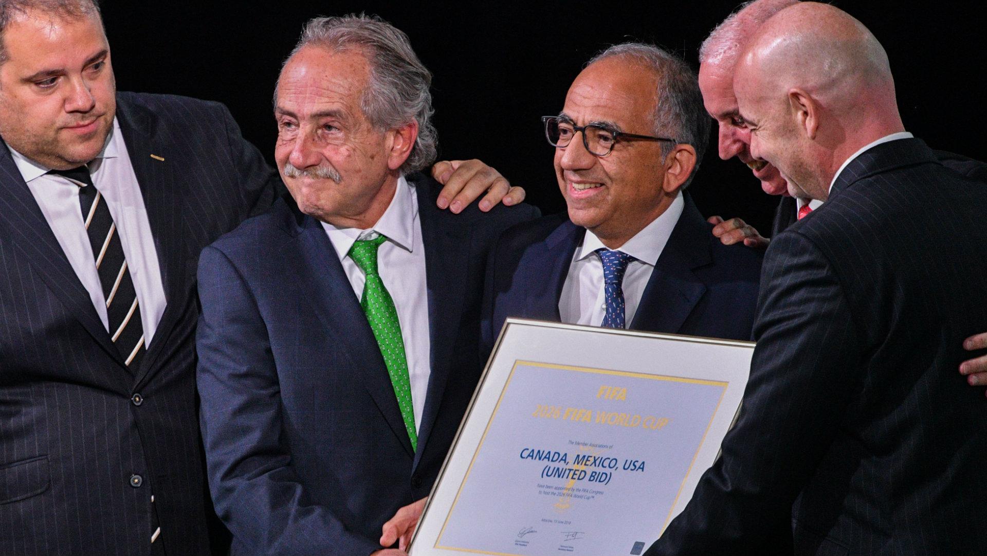 Carlos Cordeiro Decio de Maria Serrano Steve Reed United Bid World Cup 2026