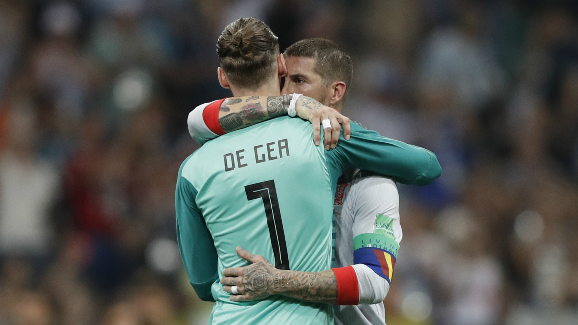 World Cup News Spain Star Sergio Ramos Tells David De Gea Never Give Up After Portugal Blunder Goal Com