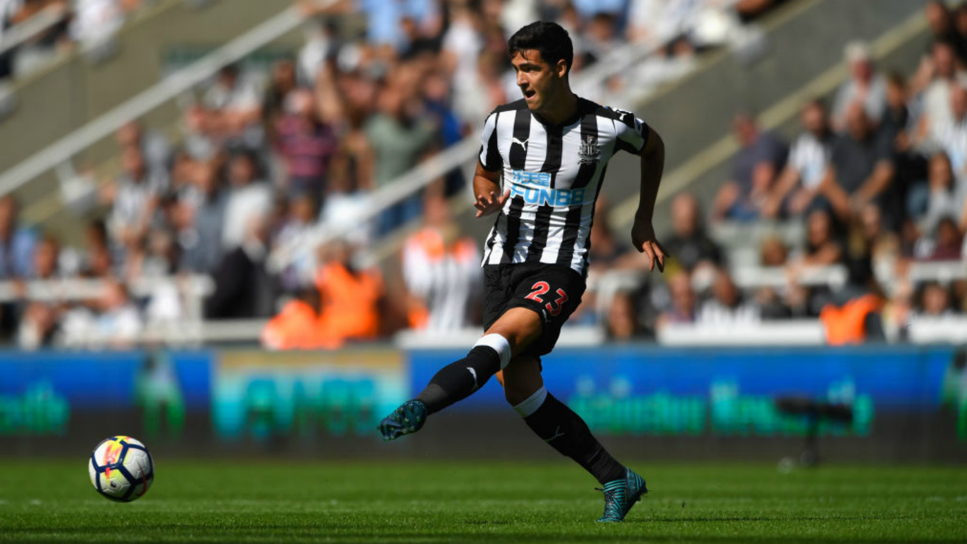 The Newcastle player Mikel Merino
