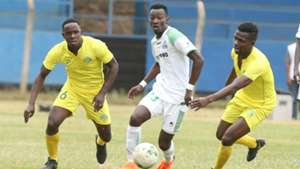 Bolton Omwenga of Kariobangi Sharks v Francis Mustapha of Gor Mahia.