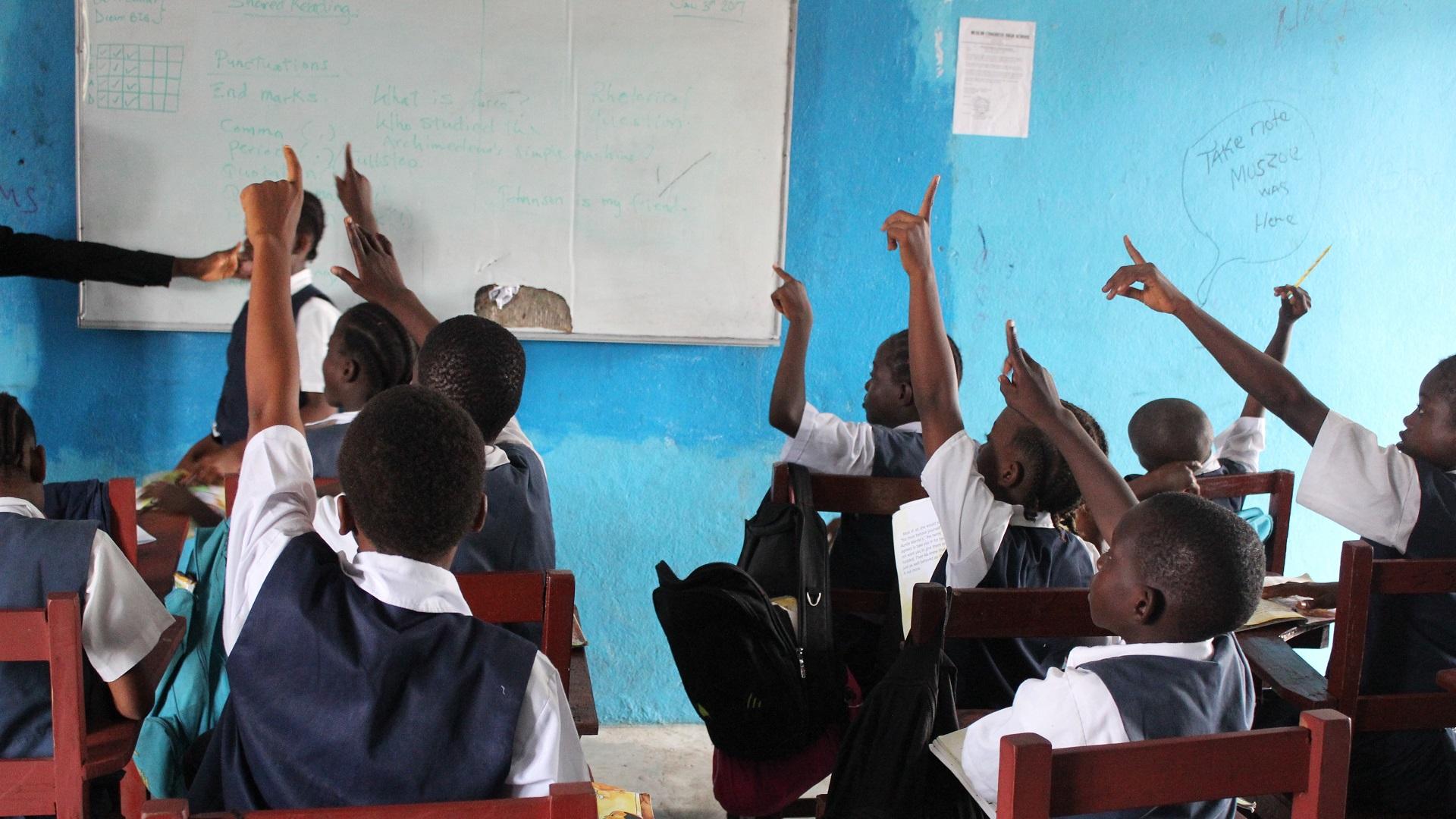 Monrovia Academy class