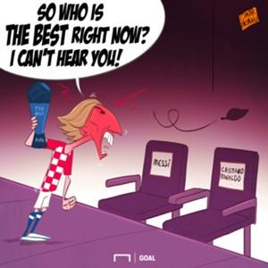 CARTOON Modric wins The Best