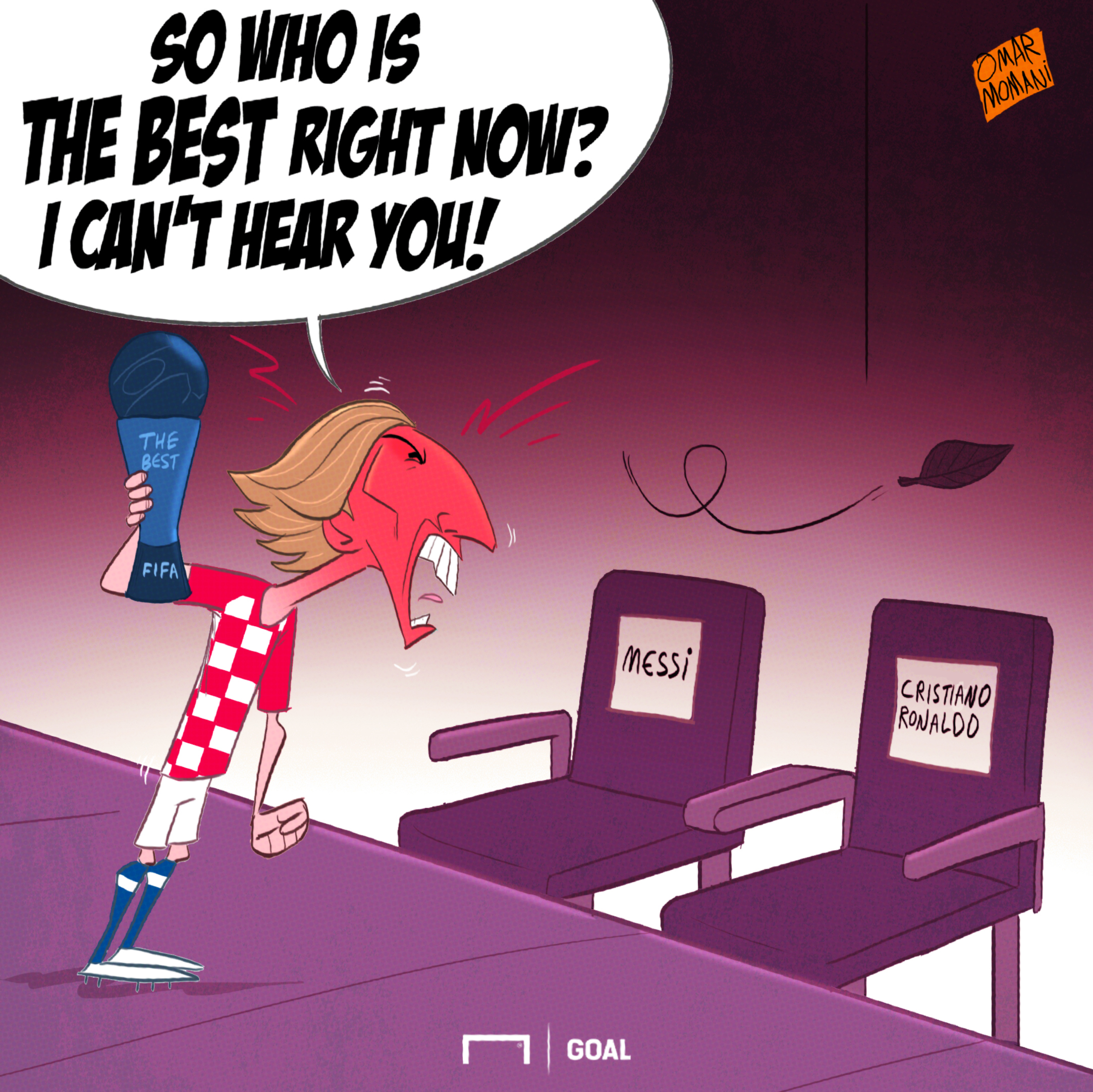 CARTOON Modric wins The Best
