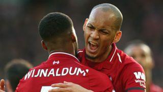 Fabinho Gini Wijnaldum Liverpool 2018-19