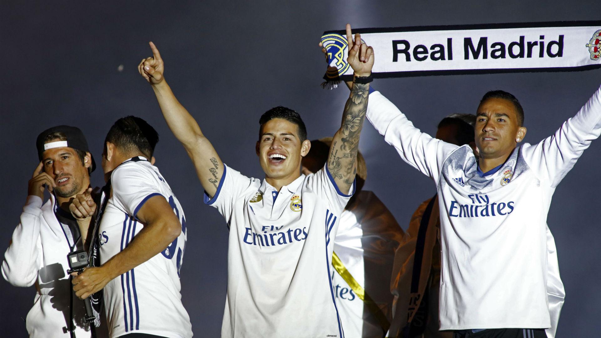 James Rodríguez celebra título de La Liga 2017