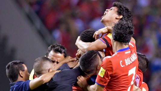 Costa Rica celebrating WC Qualifying CONCACAF 10072017