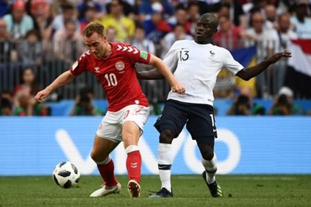 Christian Eriksen & N'Golo Kanté - Denmark v France