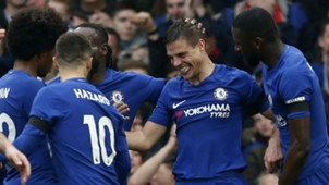 Chelsea celebrate West Ham