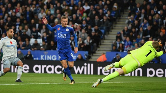 Leicester City Everton Jamie Vardy