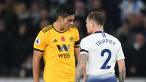 Kieran Trippier Raul Jimenez Tottenham Wolves Premier League 03112018
