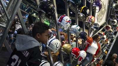 Super Bowl helmets