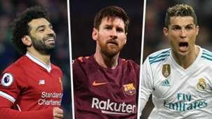 Mohamed Salah Lionel Messi Cristiano Ronaldo GFX