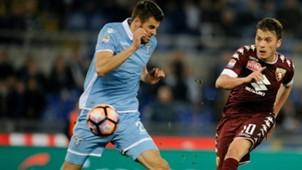 Adem Ljajic Wesley Hoedt Lazio Torino Serie A