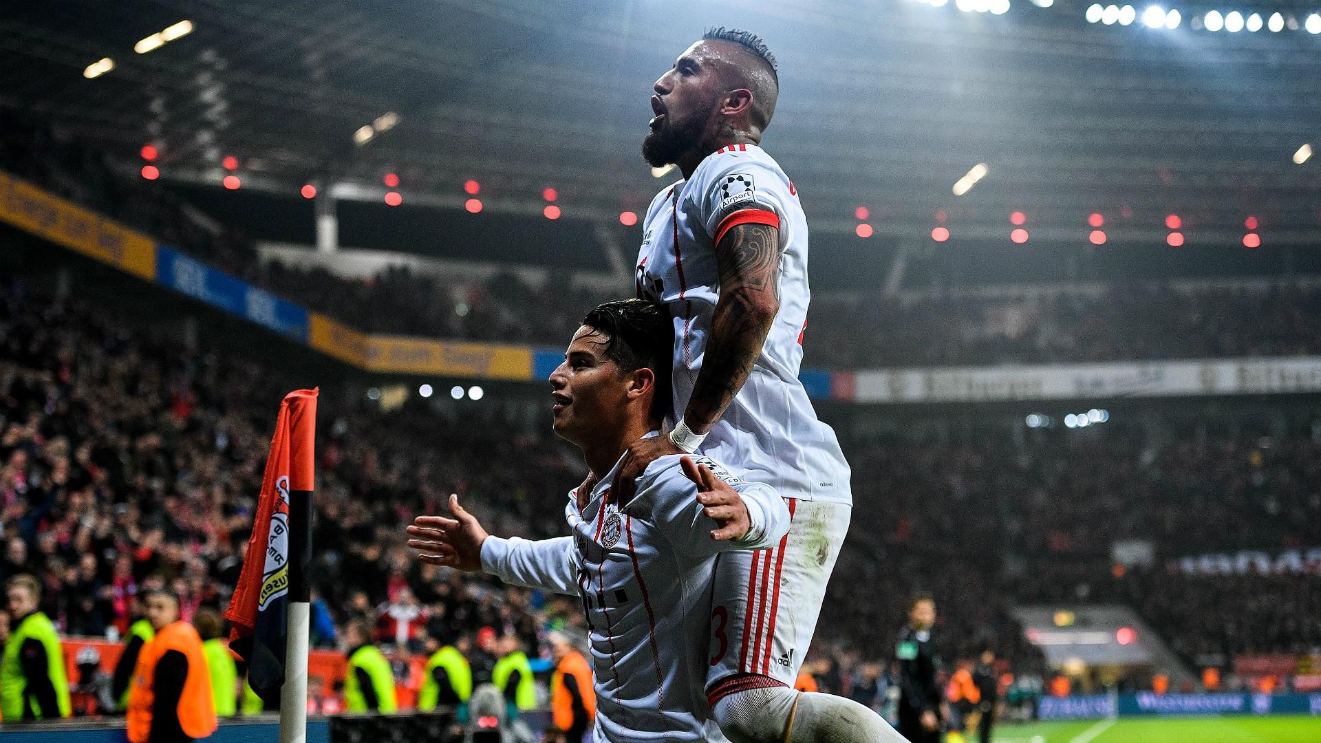 James Rodriguez Arturo Vidal Bayern Munich 2018