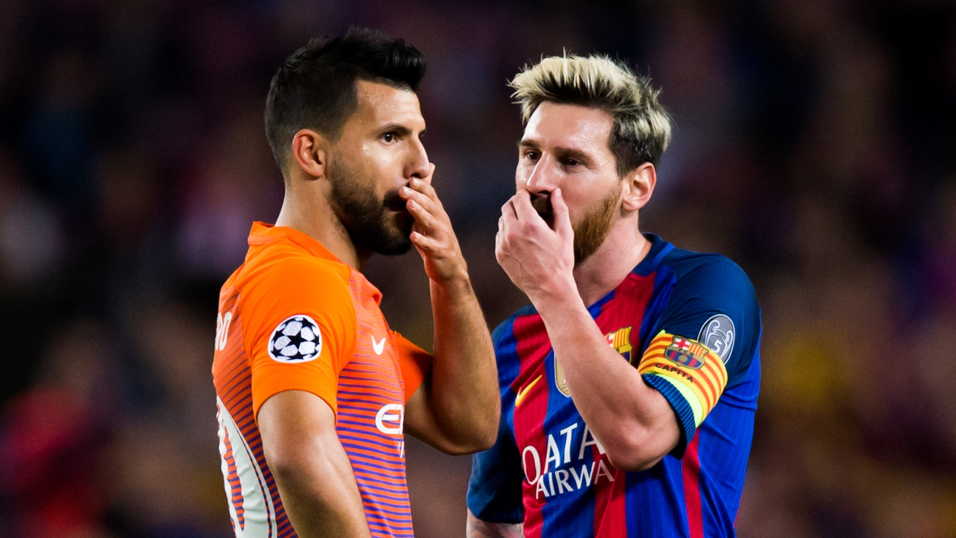 Sergio Aguero, Lionel Messi, Man City, Barcelona 2016-17
