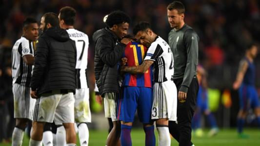 Neymar Dani Alves Barcelona Juventus Champions League 19042017