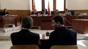 Lionel Messi Barcelona Jorge Horacio Messi seen inside the court