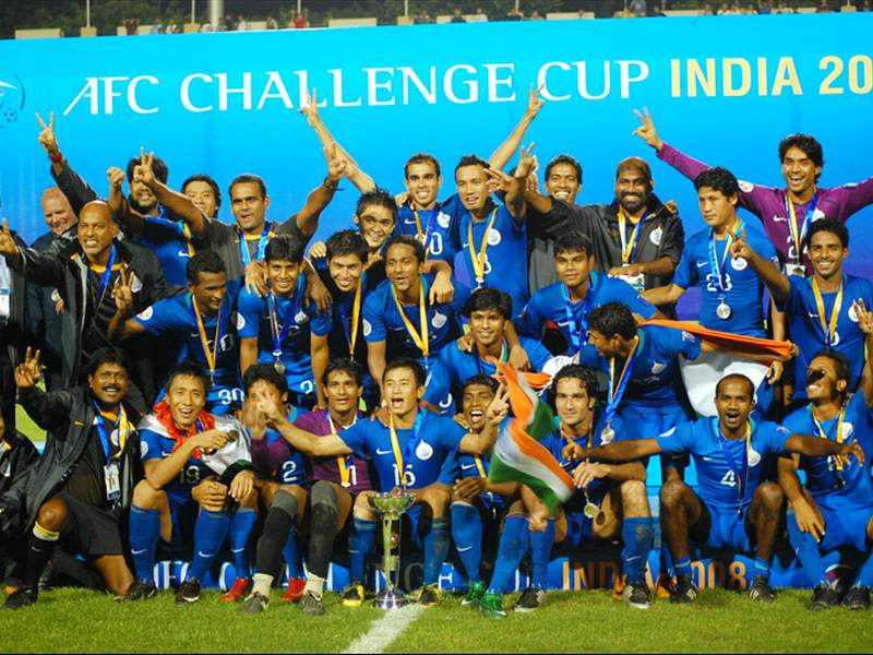 Indian team- Winners of AFC Challenge Cup 2008