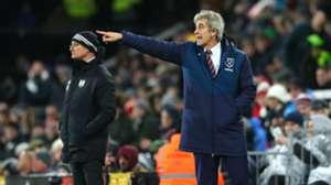 151218 West Ham Fulham Manuel Pellegrini Claudio Ranieri