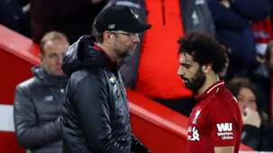 Jurgen Klopp Mohamed Salah Liverpool vs Everton Premier League 2018-19