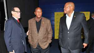 Peter Mence, Kaizer Motaung and Bobby Motaung, June 2016