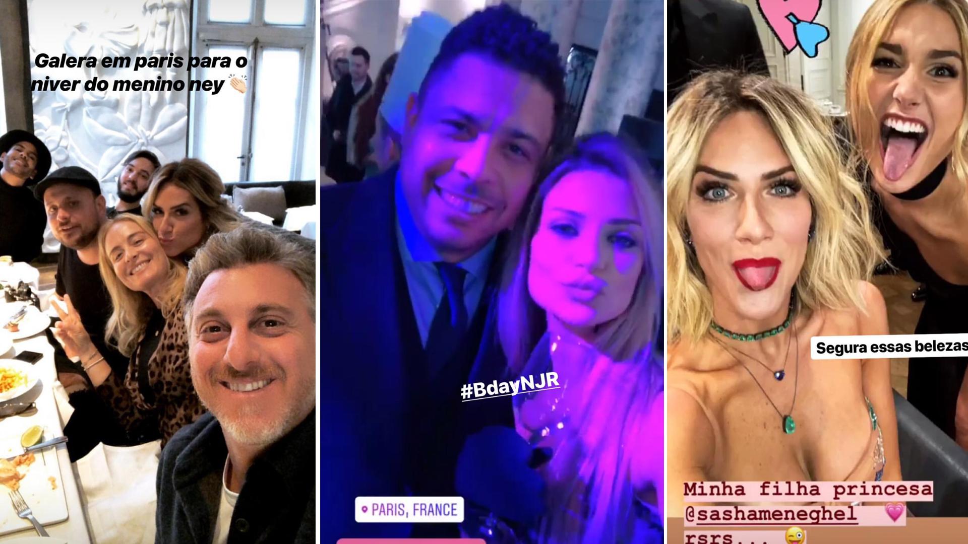 Festa Neymar 26 anos 04 02 18 Luciano Huck Angelica Ronaldo Giovanna Ewbank Sasha Meneguel