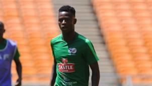 Phakamani Mahlambi during the South Africa Training