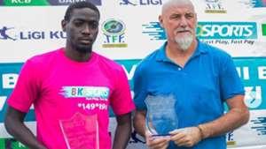 Patrick Aussems and John Bocco of Simba Mach 2019 Tanzania Premier League