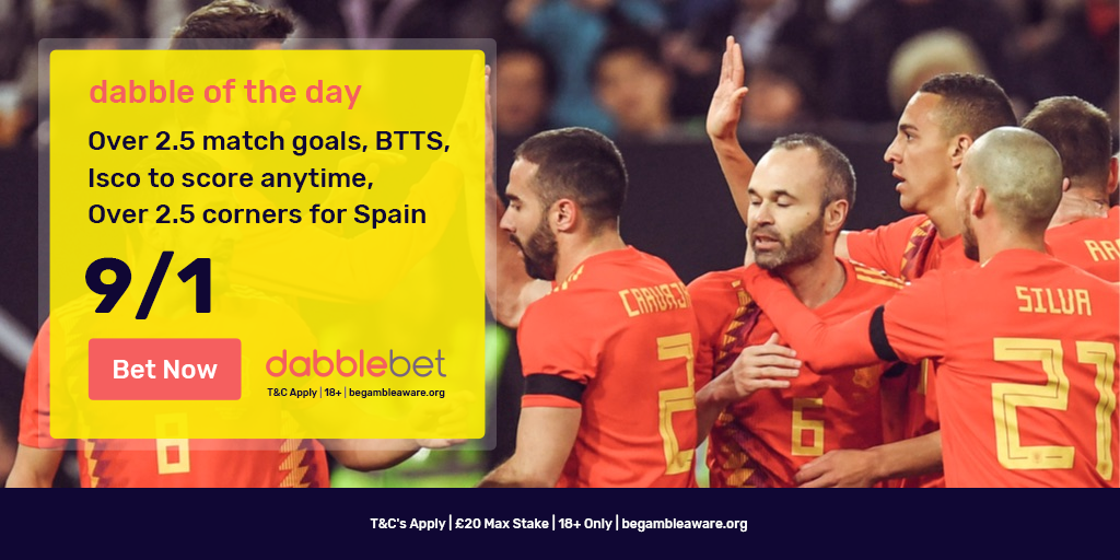 dabble of the day Spain v Russia