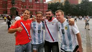 Hinchas argentinos Moscú World Cup Mundial 290618