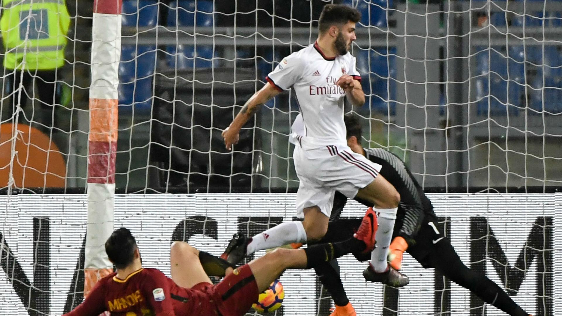 Cutrone's goal Roma Milan